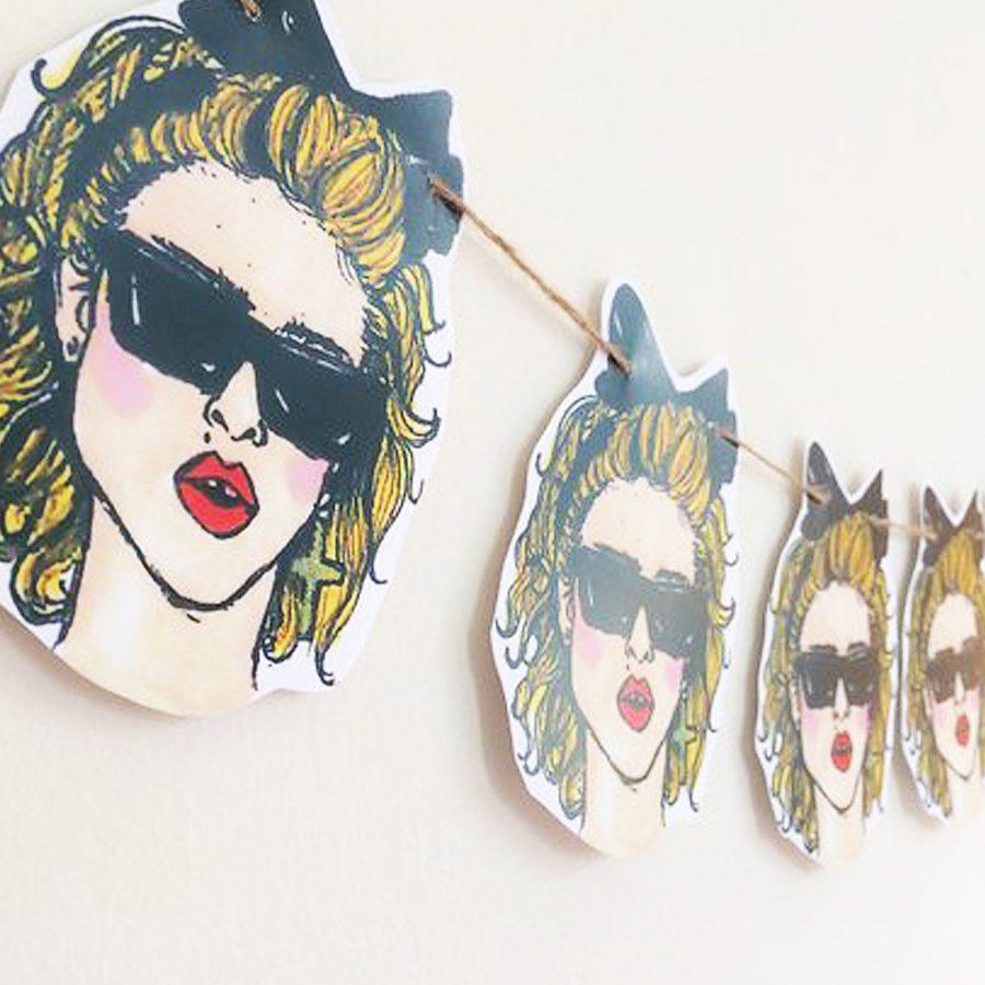 Madonna 80's Guirnalda